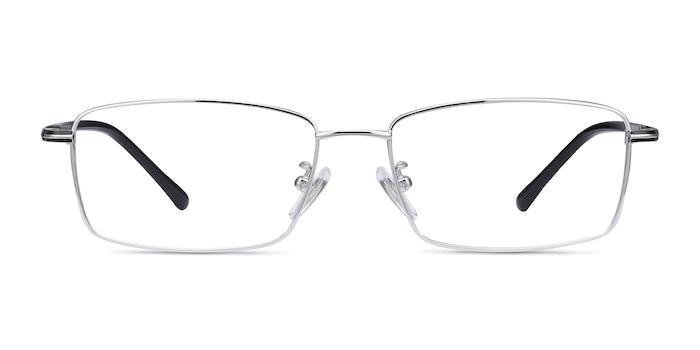 Holmst Silver Titanium Eyeglass Frames from EyeBuyDirect