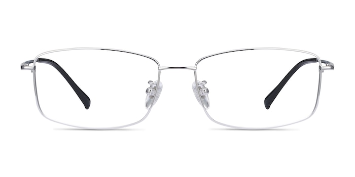 Embark Silver Titanium Eyeglass Frames from EyeBuyDirect