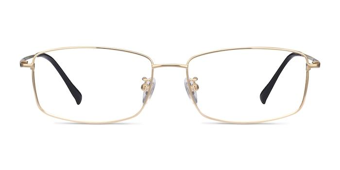 Embark Golden Titanium Eyeglass Frames from EyeBuyDirect