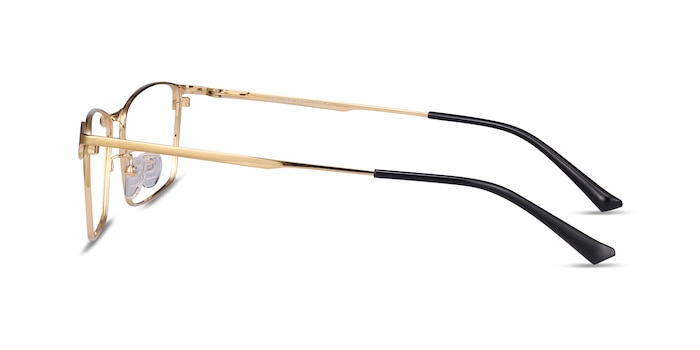 Decider Gold Titanium Eyeglass Frames from EyeBuyDirect