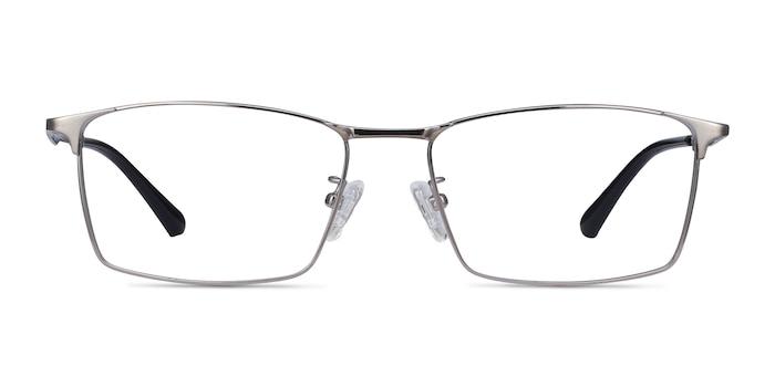 Decider Gunmetal Titanium Eyeglass Frames from EyeBuyDirect