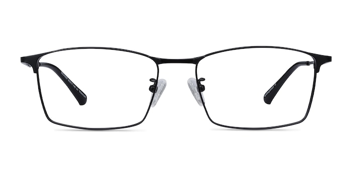 Decider Black Titanium Eyeglass Frames from EyeBuyDirect