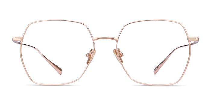 Holistic Rose Gold Titanium Eyeglass Frames from EyeBuyDirect