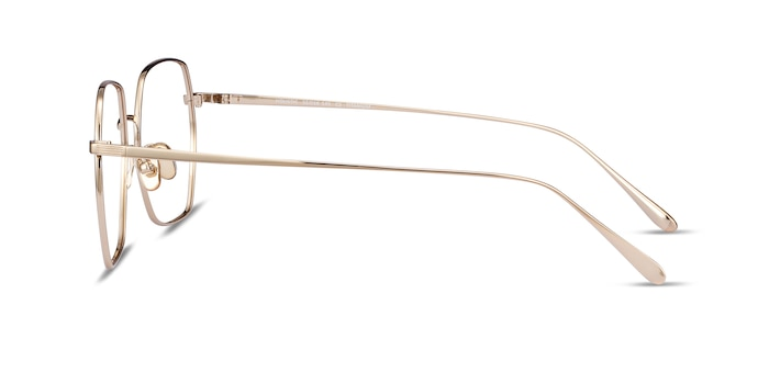 Holistic Gold Titanium Eyeglass Frames from EyeBuyDirect