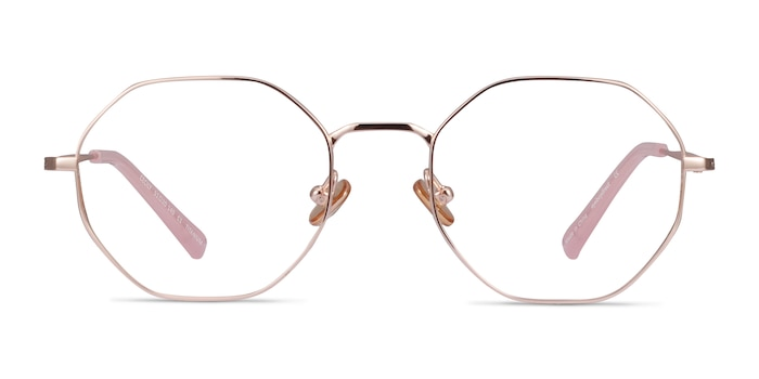 Cecily Rose Gold Titanium Eyeglass Frames from EyeBuyDirect