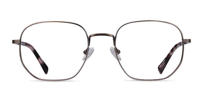 Dante Bronze Titanium Eyeglass Frames from EyeBuyDirect