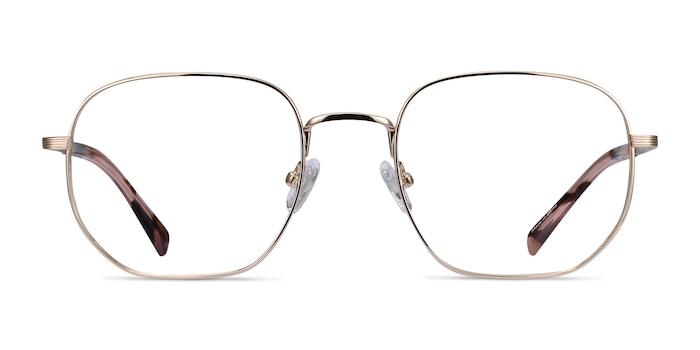 Dante Gold Titanium Eyeglass Frames from EyeBuyDirect