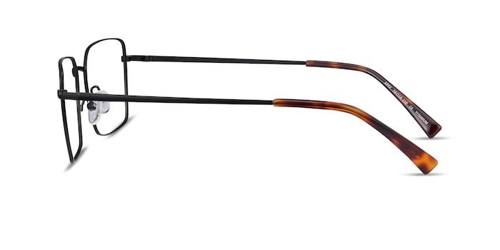 Apex Black Titanium Eyeglass Frames from EyeBuyDirect