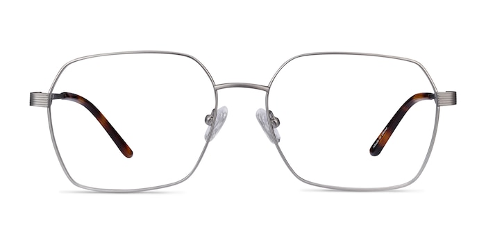 East Gunmetal Titanium Eyeglass Frames from EyeBuyDirect