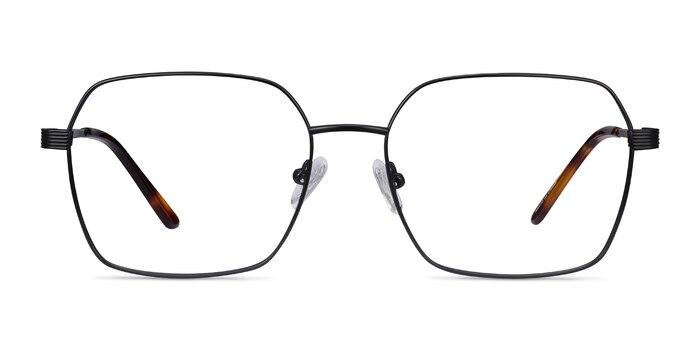 East Black Titanium Eyeglass Frames from EyeBuyDirect