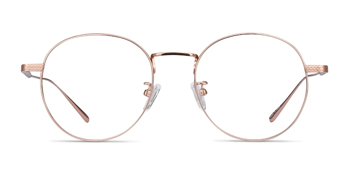 Geometry Rose Gold Titanium Eyeglass Frames from EyeBuyDirect