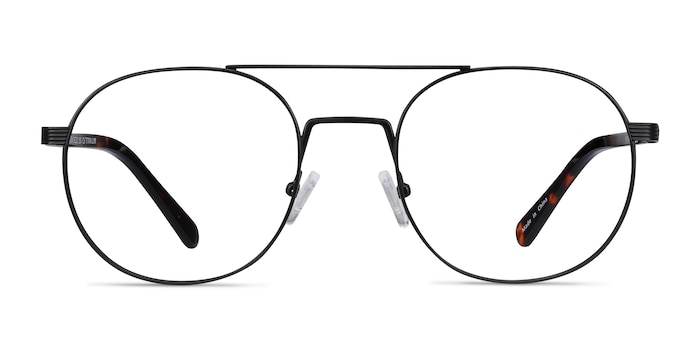 Gordon Black Acetate Eyeglass Frames from EyeBuyDirect