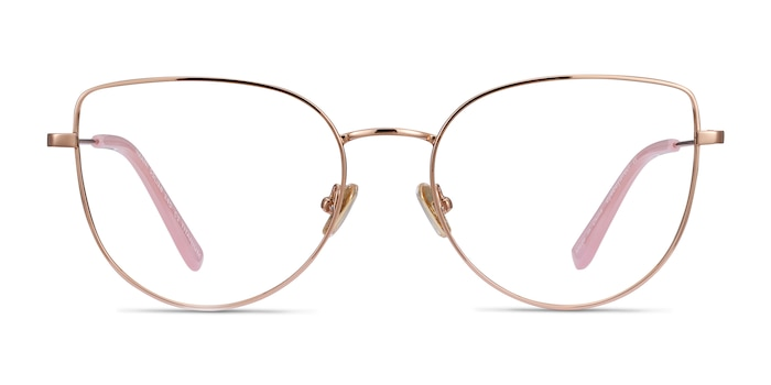 Imani Rose Gold Titanium Eyeglass Frames from EyeBuyDirect