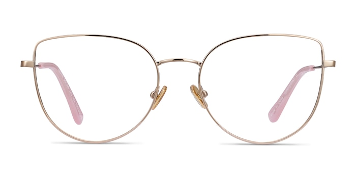 Imani Gold Titanium Eyeglass Frames from EyeBuyDirect