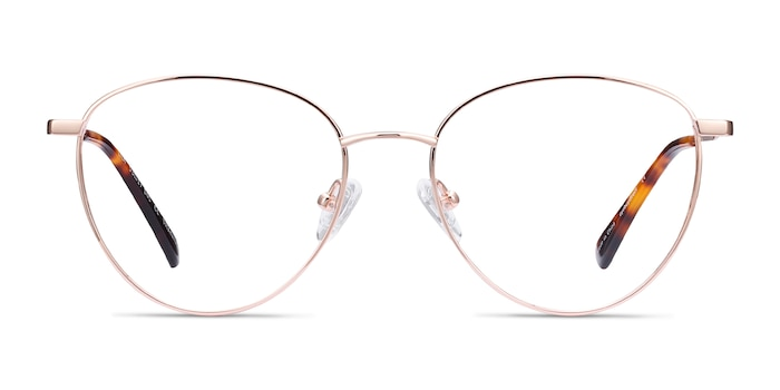Lila Rose Gold Titanium Eyeglass Frames from EyeBuyDirect