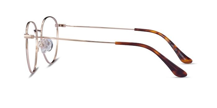 Lila Black & Gold Titane Montures de Lunette de vue d'EyeBuyDirect