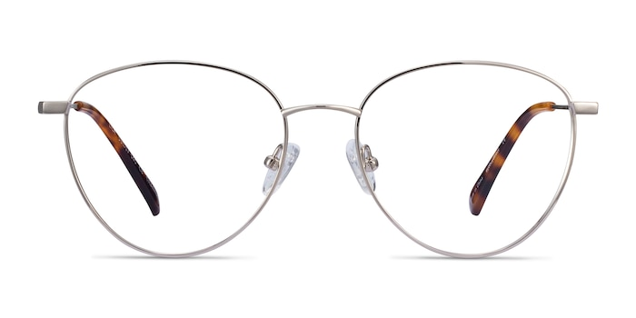 Lila Silver Titanium Eyeglass Frames from EyeBuyDirect