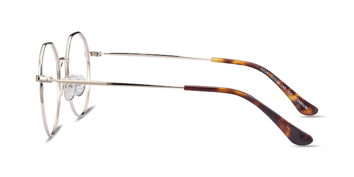 Julia Gold Titanium Eyeglass Frames from EyeBuyDirect