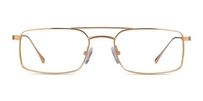 Johnson Gold Titanium Eyeglass Frames from EyeBuyDirect