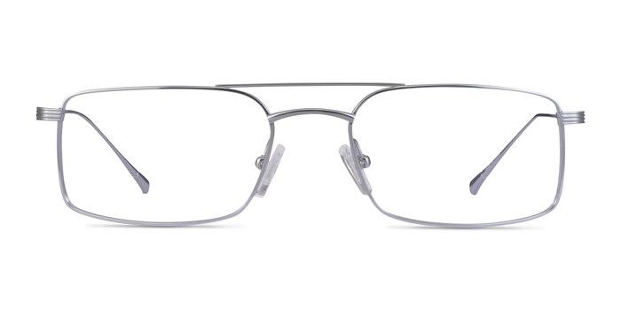 Johnson Argenté Titane Montures de Lunette de vue d'EyeBuyDirect