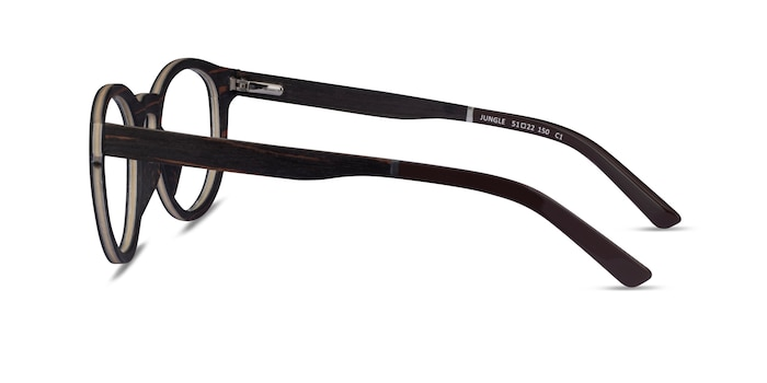 Jungle Striped Dark Wood Wood-texture Eyeglass Frames from EyeBuyDirect