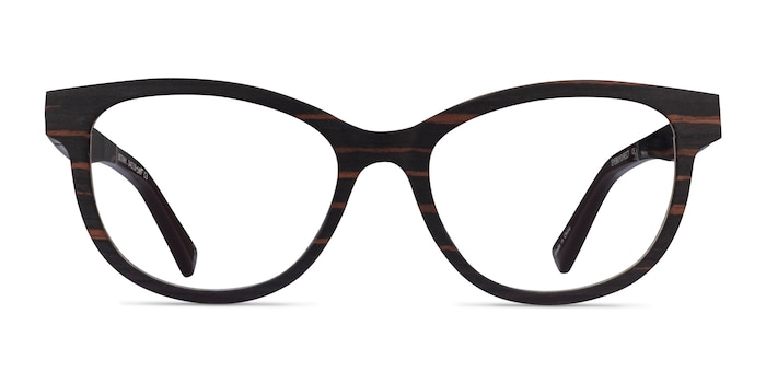 Botany Striped Dark Wood Wood-texture Eyeglass Frames from EyeBuyDirect