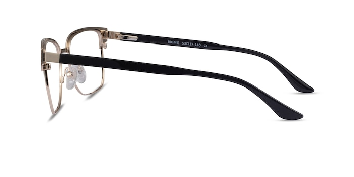 Biome Gold, Black & Wood Acetate Eyeglass Frames from EyeBuyDirect