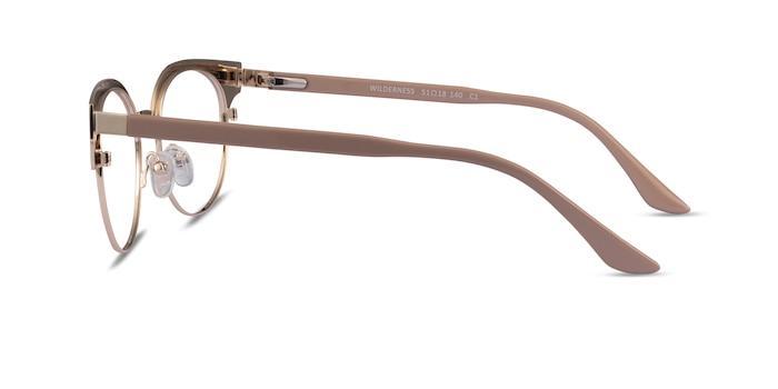 Wilderness Gold Beige Acetate Eyeglass Frames from EyeBuyDirect