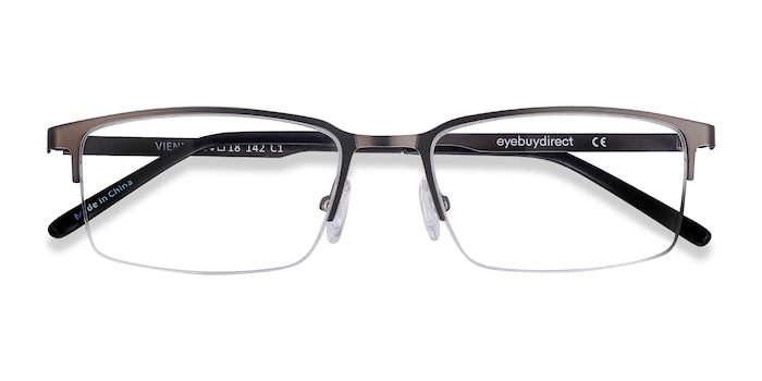 Gray Vienna -  Lightweight Metal Eyeglasses