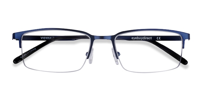 Navy Vienna -  Lightweight Metal Eyeglasses