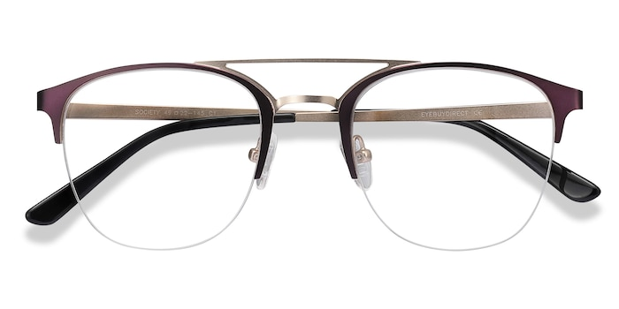 Purple Society -  Vintage Metal Eyeglasses