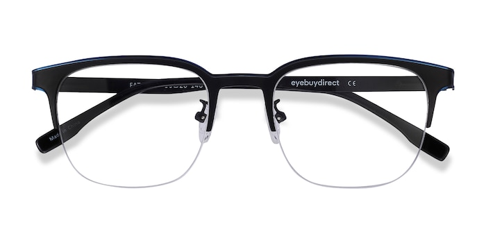 Blue Black Fathom -  Metal Eyeglasses