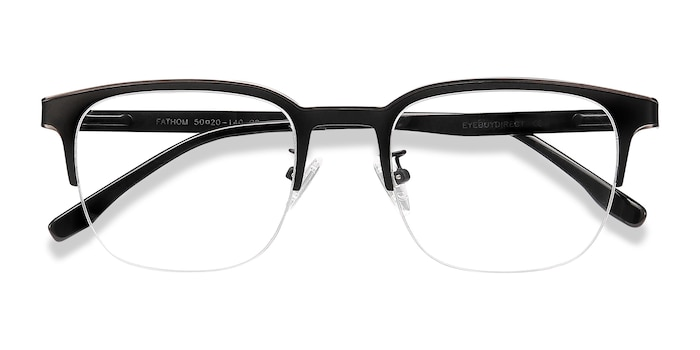 Gunmetal Black Fathom -  Metal Eyeglasses