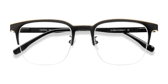 Bronze Black Fathom -  Metal Eyeglasses