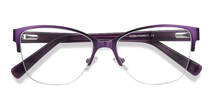 Purple Feline -  Vintage Acetate Eyeglasses