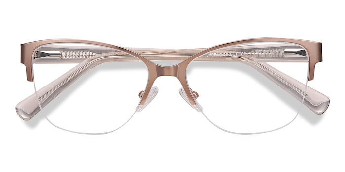 Rose Gold Feline -  Vintage Acetate Eyeglasses