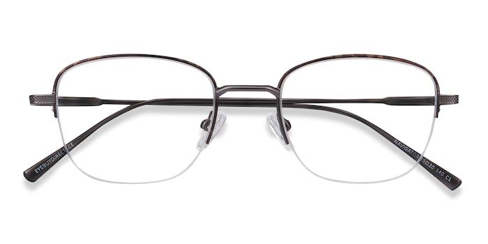 Tortoise Navigator -  Vintage Metal Eyeglasses