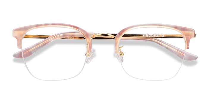 Pink Curie -  Colorful Acetate, Metal Eyeglasses