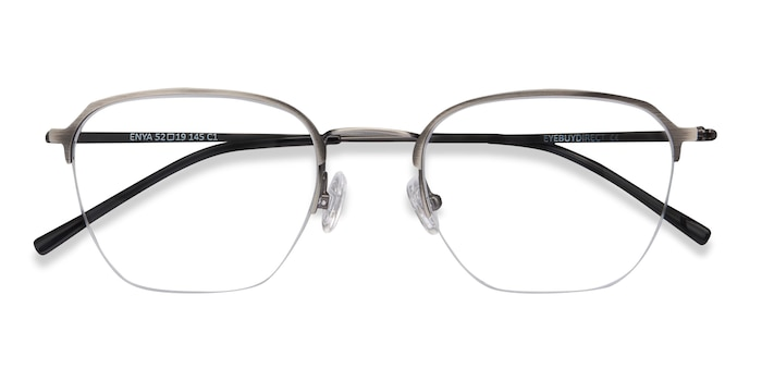 Gunmetal Enya -  Vintage Metal Eyeglasses