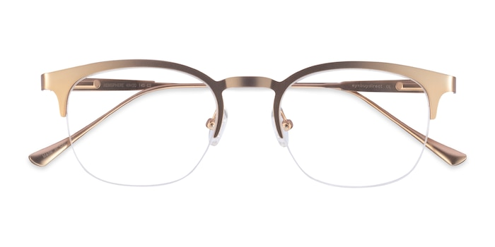 Rose Gold Hemisphere -  Vintage Metal Eyeglasses