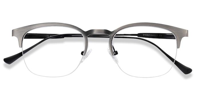Gunmetal Hemisphere -  Metal Eyeglasses