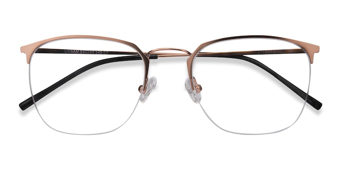 Rose Gold Urban -  Vintage Metal Eyeglasses