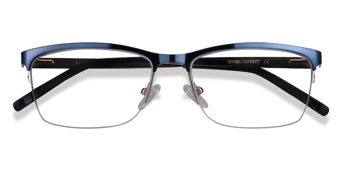 Navy Rally -  Metal Eyeglasses