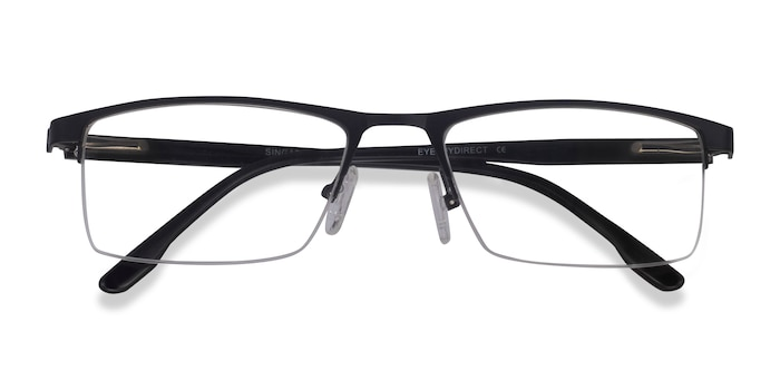 Matte Black Singapore -  Metal Eyeglasses