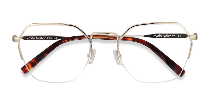 Gold Cruz -  Fashion Metal Eyeglasses