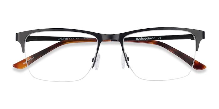 Black Jasper -  Metal Eyeglasses