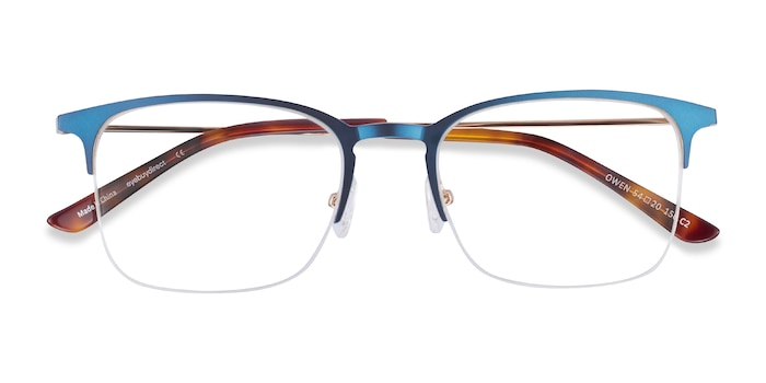 Navy Owen -  Metal Eyeglasses