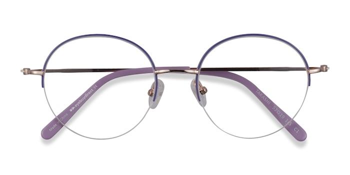 Purple & Gold Takashi -  Coloré Métal Lunette de Vue