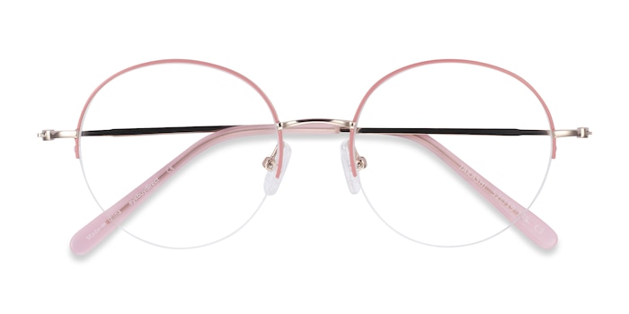 Pink & Gold Takashi -  Colorful Metal Eyeglasses