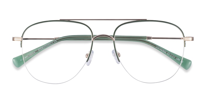 Green Gold Universe -  Metal Eyeglasses